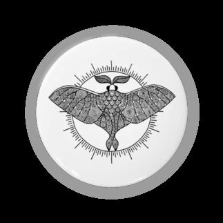アトリエ蟲人のオオミズアオ 線画(黒ver) Badges