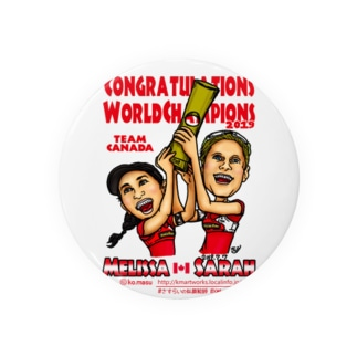 World Champs Melissa/Sarah Badges