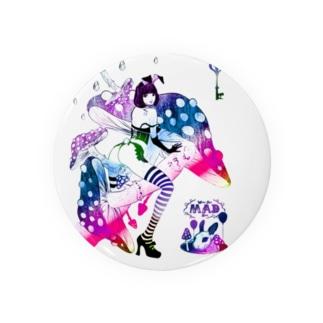 MAD ALICE 電池式キノコの国のアリス バニー型 Badges