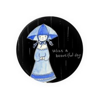 傘帽子の女の子 Badges