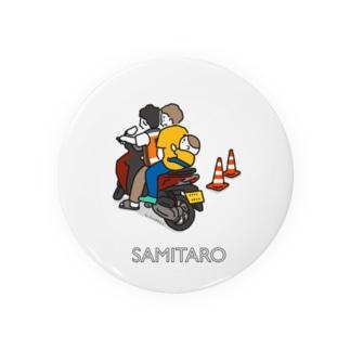 サミ太郎とバイタクTシャツ Badges