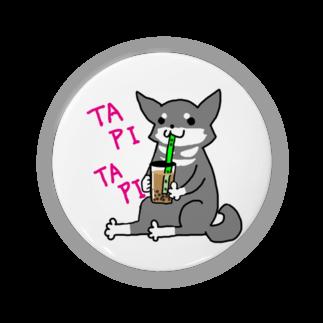 浅木愁太@LINEスタンプ販売中のタピタピ柴さん(黒柴) Badges