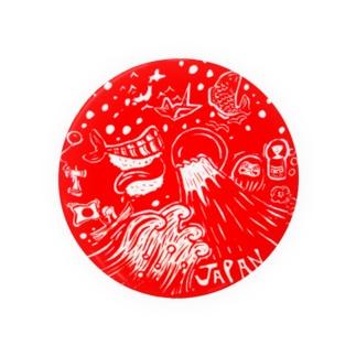 日の丸JAPAN 缶バッジ