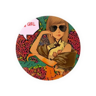 angry GIRL Badges