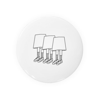 3つ子の足 Tin Badge