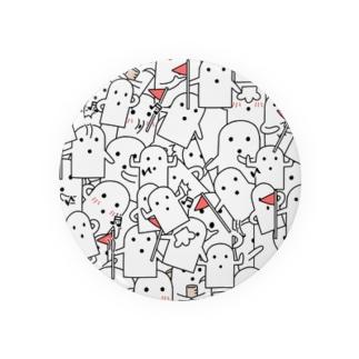 白いハニワ【うじゃうじゃ】 Badges