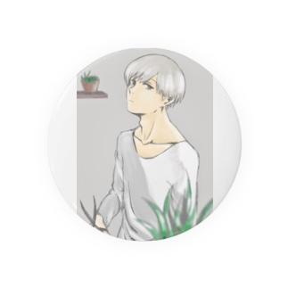 植物と男の子 Badges