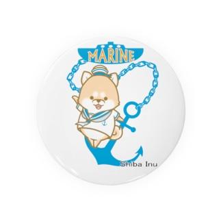 柴犬 マリンルック Badges