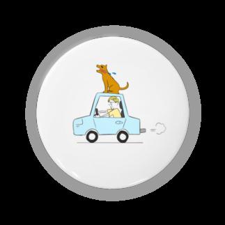 s_uppo_nのぼくと犬と車 Badges