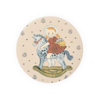 wooden horse Badges