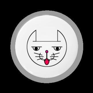 ヒロさんのグッズのネコだお(口開け)(カラー) Badges