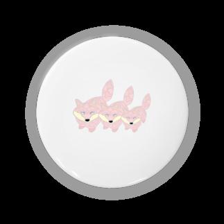 ぎょんすの寺子屋のきつねトリオ(PINK) Badges