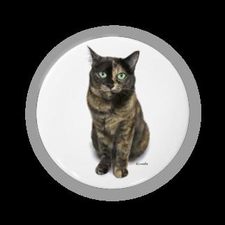 kinako-japanのサビ猫のキューちゃん 背景白 Badges
