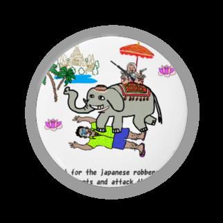 uwotomoの【THAILAND】象に乗った強盗 Badges