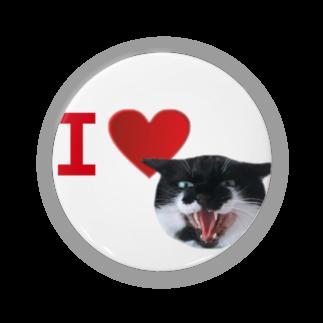 保護猫活動家すみパンさん家への支援グッズ!のNo.18 あいらぶバットにゃん♪ Badges