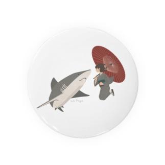 サメと出会うさめ子さん。 Badges