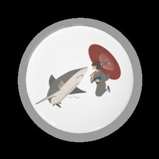 イラストレーター さかたようこのサメと出会うさめ子さん。 Badges