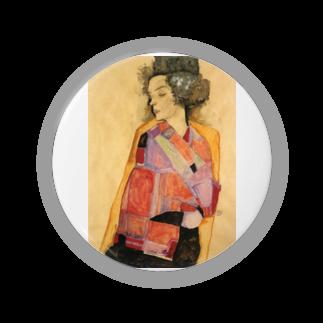 Art Baseのエゴン・シーレ / 1911 / The Daydreamer (Gerti Schiele) / Egon Schiele Badges