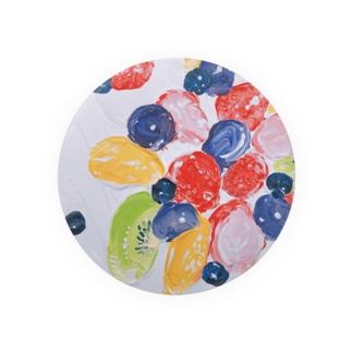 フルーツたっぷりケーキ・鮮 Badges