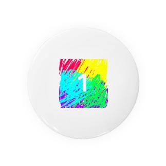 虹色とワン Badges