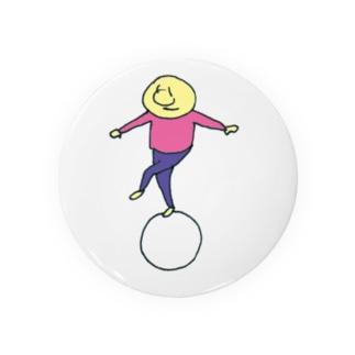 まるに乗る(ピンク) Badges