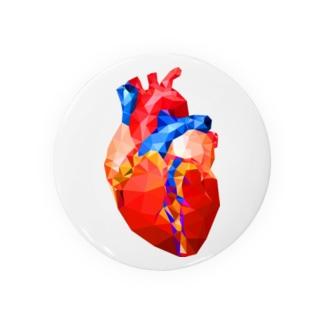 Glass Heart Badges
