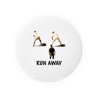 RUN AWAY 野球選手 Badges