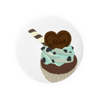 チョコミントカップケーキ Badges