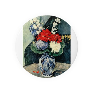 ポール・セザンヌ / 1874 /Still life, Delft vase with flowers / Paul Cezanne Badges