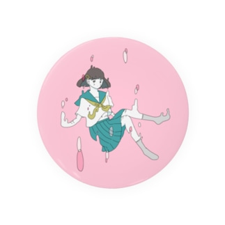 女の子の缶バッジ Badges