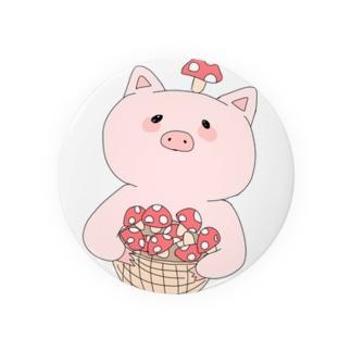きのこ狩り豚ちゃん Badges
