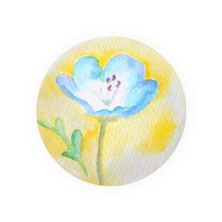 ネモフィラ 水彩イラストグッズ Badges
