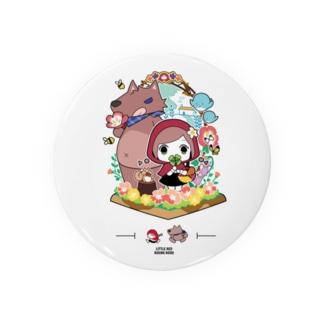 童話『赤ずきんちゃん』缶バッチ オリジナルデザイン Badges