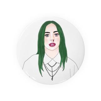 Green Hair Girl Badges