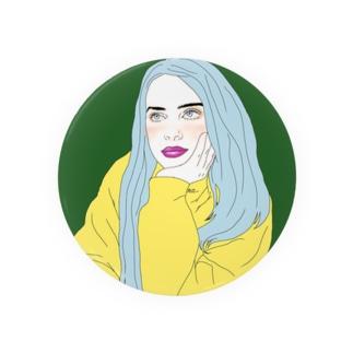 Blue Hair Girl Badges