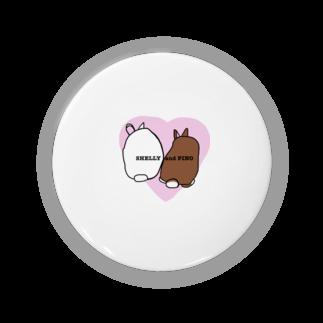 ぷぐのシェリーとピノのケツ ピンクver. Badges