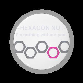 Naughty clown .のhexagon nut 〜想いを寄せて〜 Badges