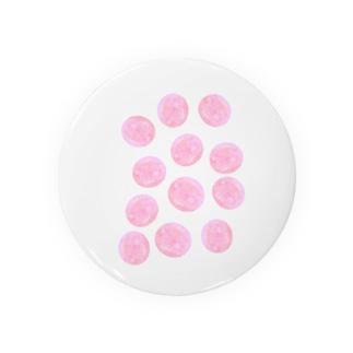 水草のピンク玉いっぱい Badges