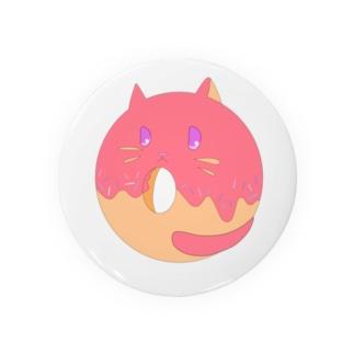 Doughnut Cat Badges