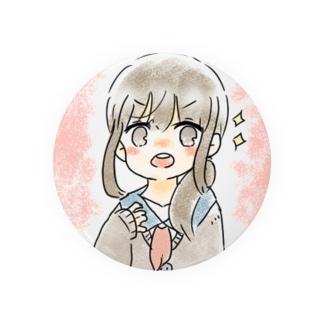 へなちょこ店の缶バッジ(ピンク) Badges
