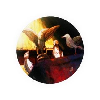 技法勇者の店/Technigic-Braves' Shop in SUZURIの白鳩を呼ぶ造形物 Tin Badge