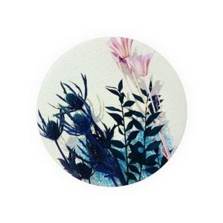 くすみカラーのお花たち Badges