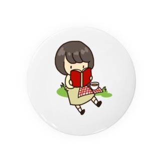 読書のぼぶちゃん Badges