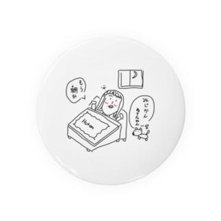 寝すぎた女の子とワンちゃん Badges