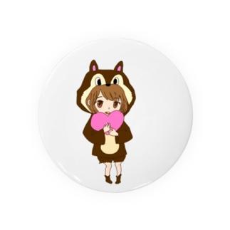 ハートを抱える少女 Badges