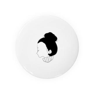 お団子の女の子 Badges