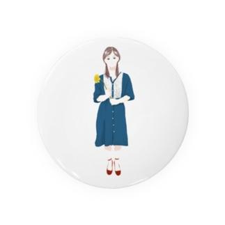 ガーベラ×ワンピースの女の子 Badges