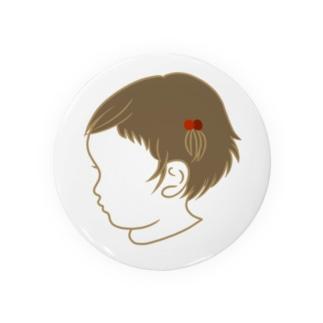 くせ毛の女のコ Badges