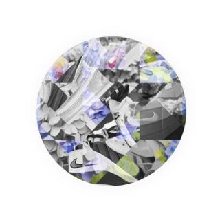 textile_sneakers×flowers Badges