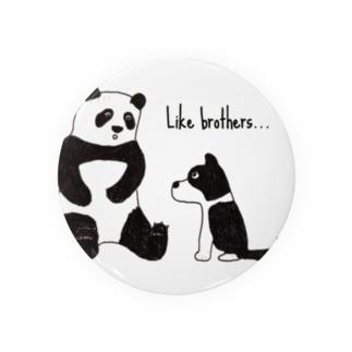 パンダと犬 Badges